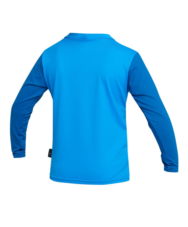 Toddler Skins Long Sleeve Rash Vest - Brite Blue