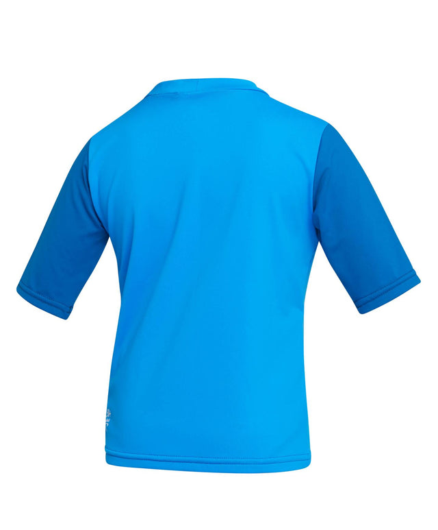 Toddler Skins Short Sleeve Rash Vest - Brite Blue