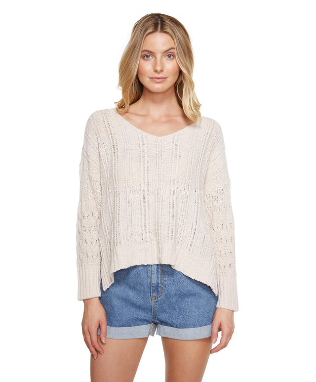 Blaze Knitted Jumper - Oatmeal Heather