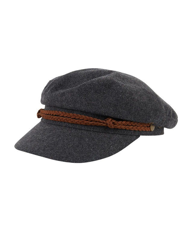 Clifton Cap - Charcoal Marle