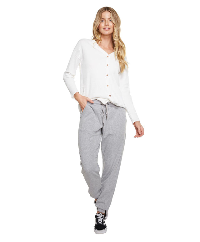 Grill Trackies - Grey Marle