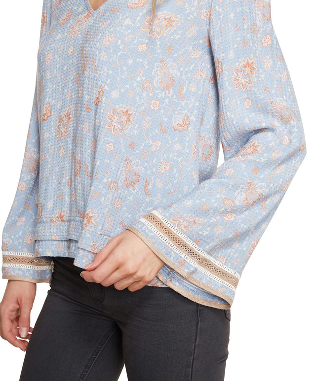 Mission Top - Denim Paisley