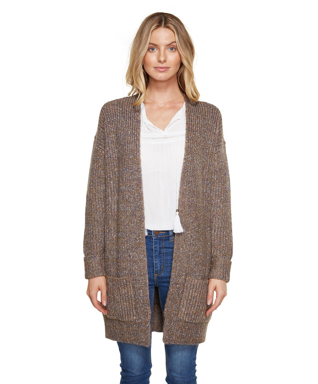 Rhoda Knit Cardigan - Peppercorn
