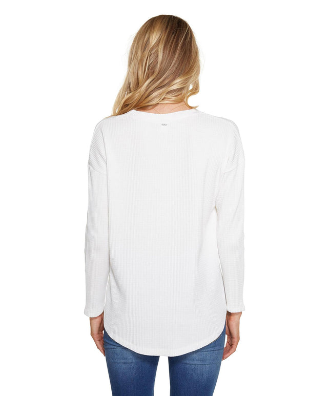 Seacliff Long Sleeve Top - White Out