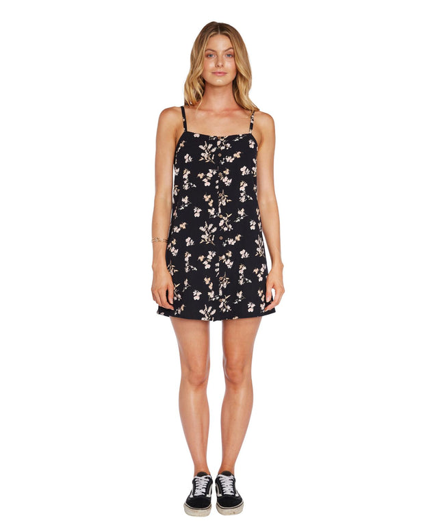 Poppy Dress - Black Floral