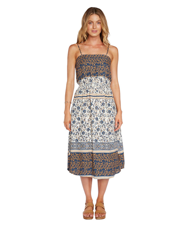 Sisal Dress - Blue Patchwork