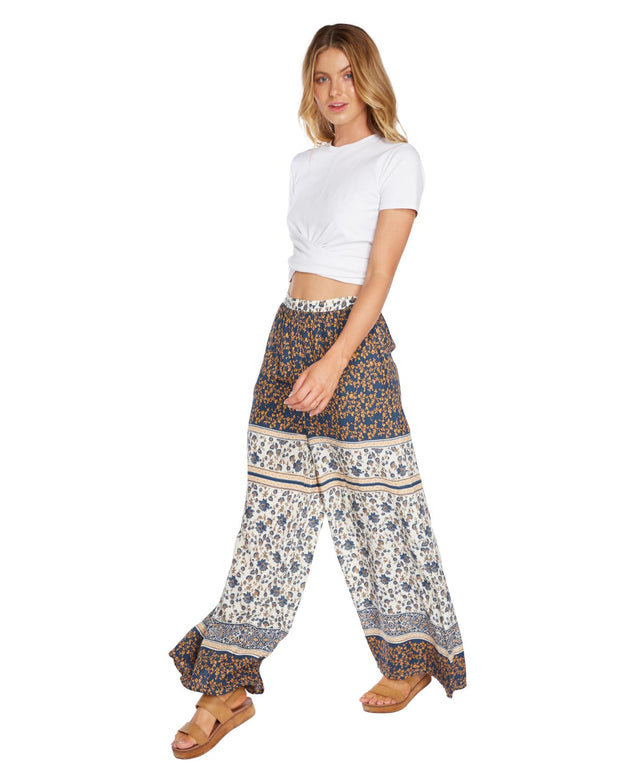 Grace Pant - Blue Patchwork
