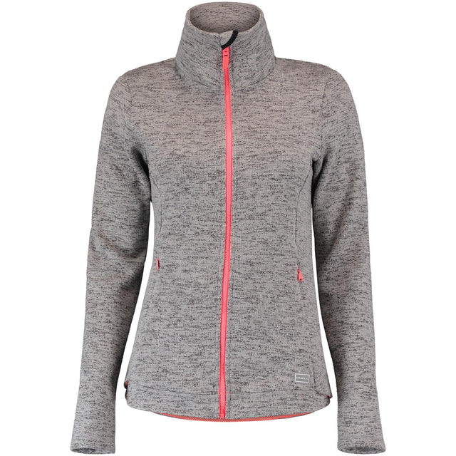 Piste Full Zip Fleece - Silver Melee
