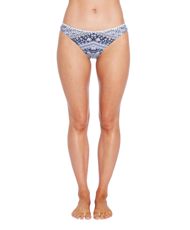 Queenie Bikini Bottom - Blue Patchwork