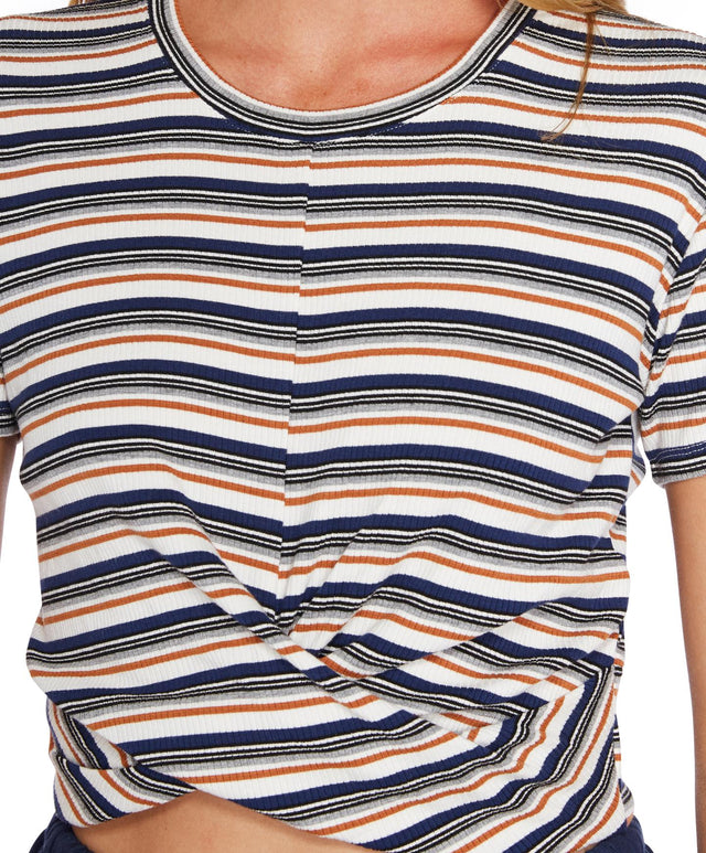 Embrace Stripe T-Shirt - White Multi