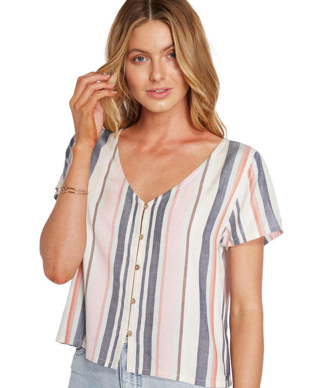Mia Top - Earth Stripe