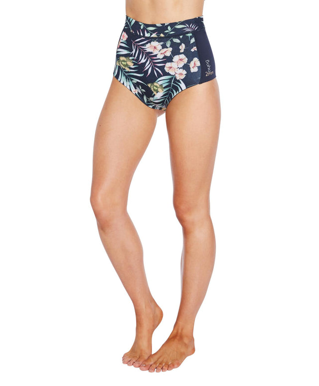 Bahia 2mm Surf Brief - Denim Floral Abyss