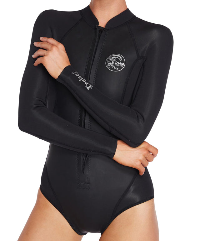 Cruise 2mm Long Arm Cheeky Spring Suit - Black