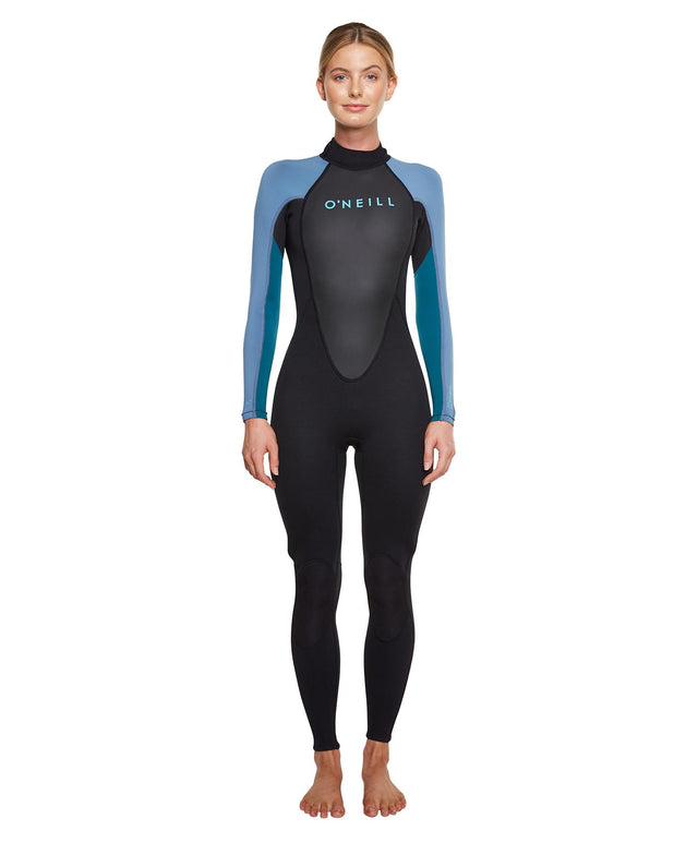 Womens Reactor II 3/2mm Steamer Wetsuit - Black/Coolteal