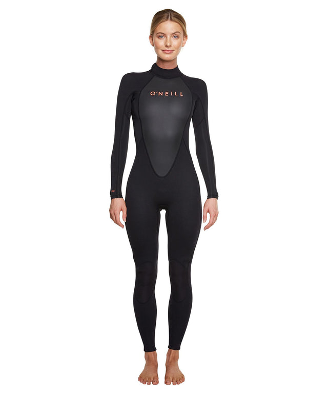 Womens Reactor II 3/2mm Steamer Wetsuit - Black