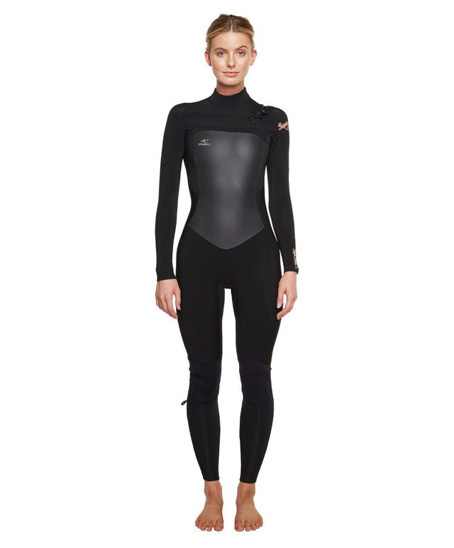 Womens Superfreak Fuze 3/2mm Steamer Wetsuit - Black