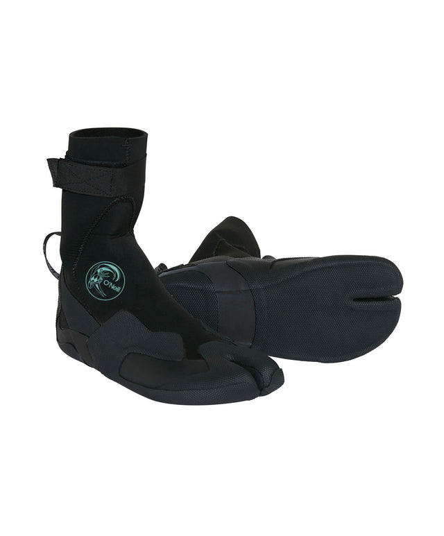 Womens Bahia 3mm Split Toe Wetsuit Boot - Black
