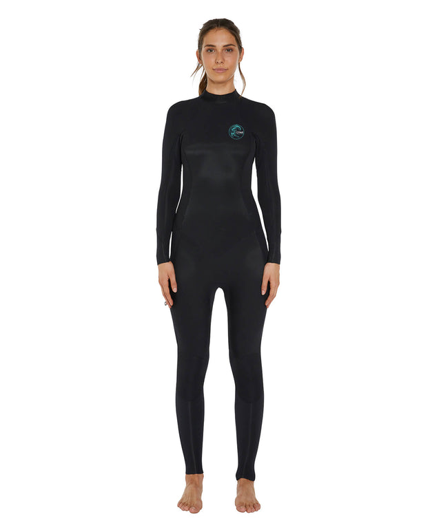 Womens Bahia 4/3mm Steamer Back Zip Wetsuit - Black