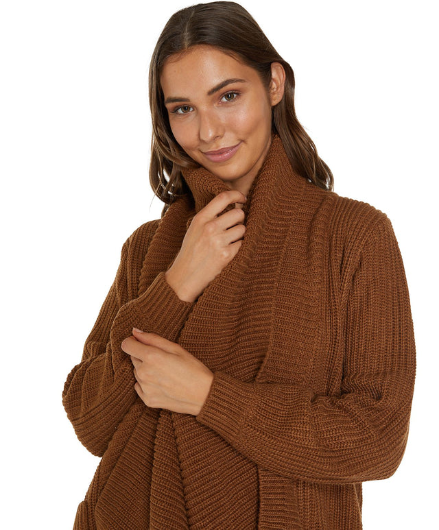 Galley Knitted Cardigan - Caramel