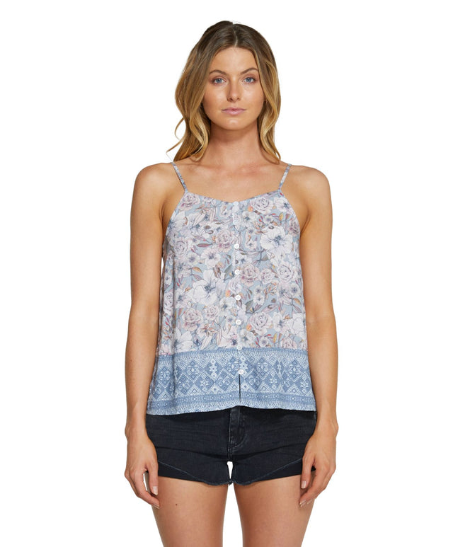 Fallbrook Cami Top - Blue Pearl