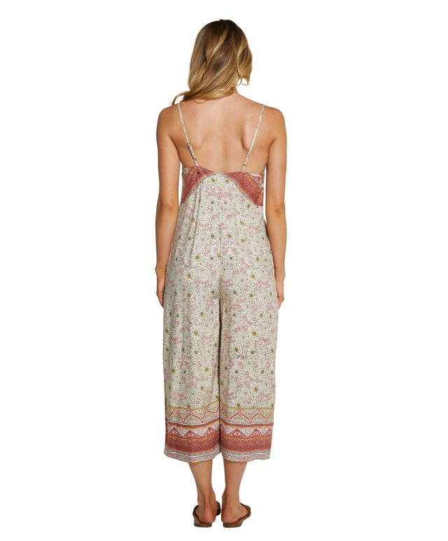 Freeport Jumpsuit - Peach Floral