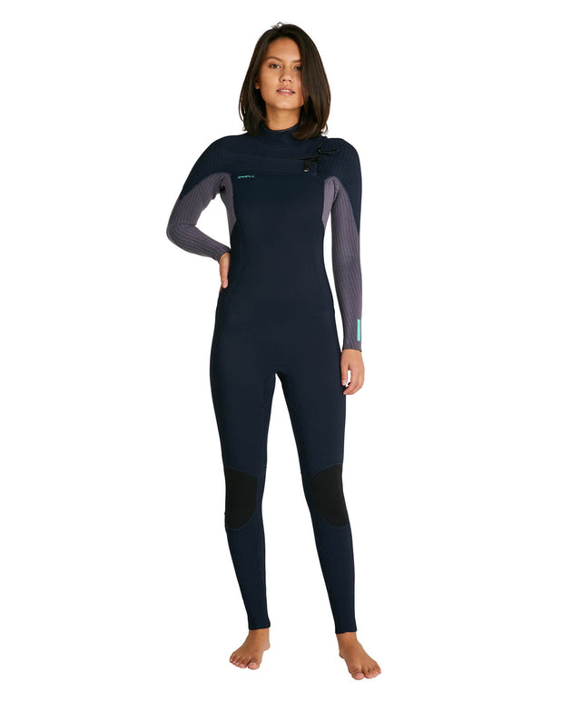 Womens Hyperfreak 3/2+ Steamer Chest Zip Wetsuit - Abyss/Dusk