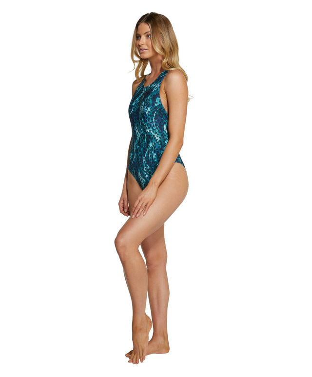 Isla One Piece Swimsuit - Aqua Swirl