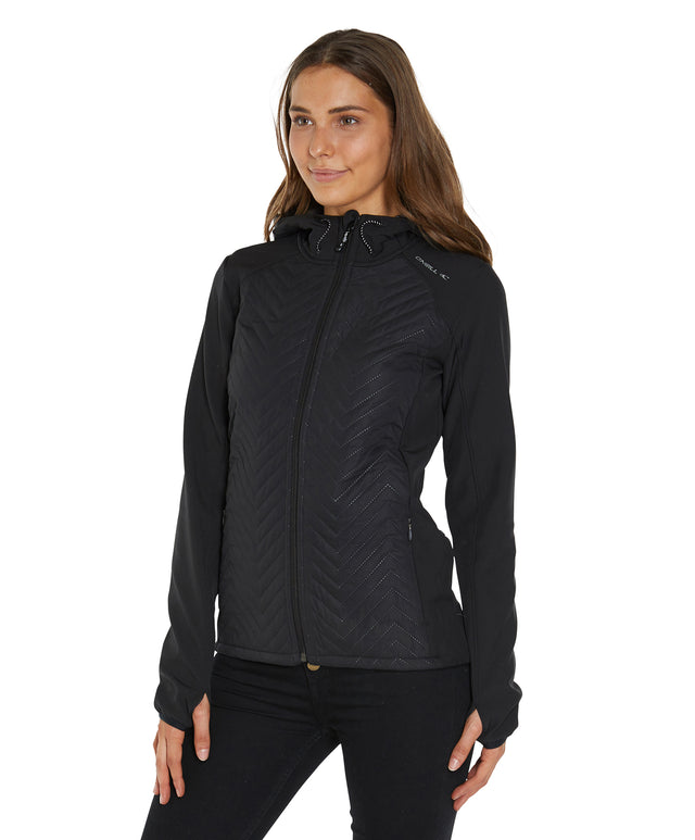 PW Baffle Mix Softshell Jacket - Black Out
