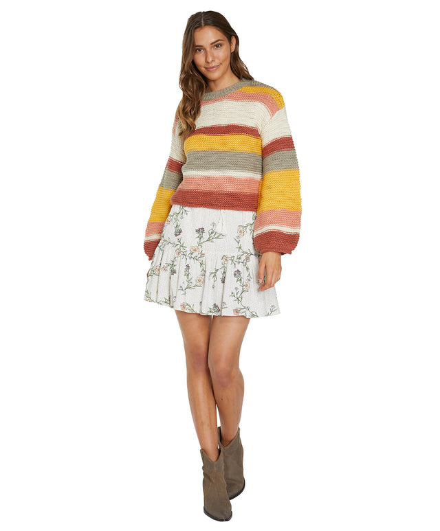 Banksia Knitted Jumper - Earth Stripe