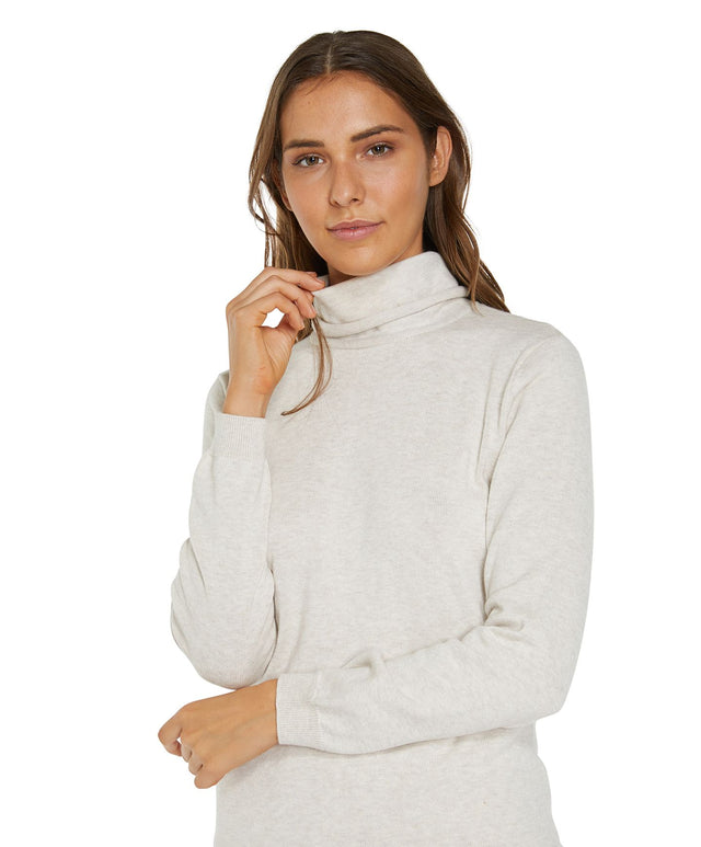 Fox Tail Knitted Jumper - Oatmeal Marle