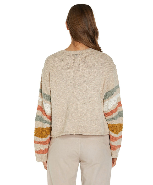 Mandalay Knitted Jumper - Oatmeal Heather