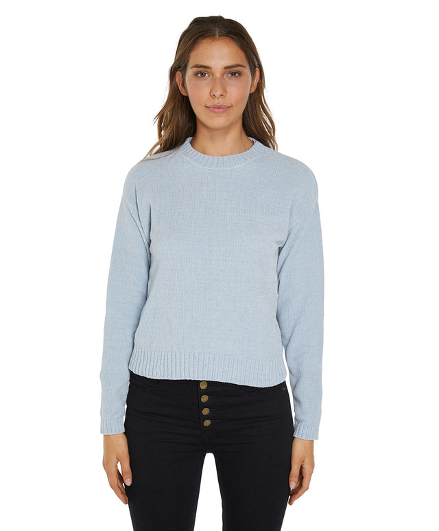 Oatman Knitted Jumper - Dusty Blue