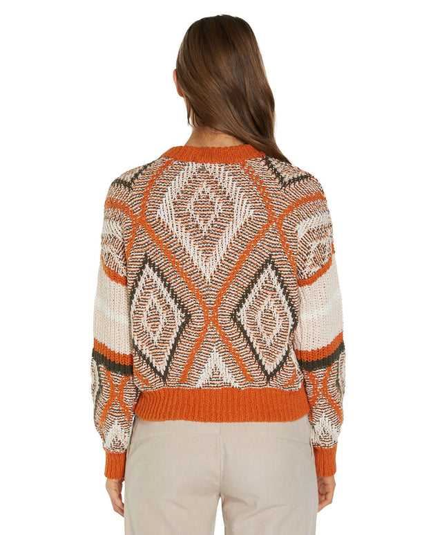 Pinehurst Knitted Jumper - Rust Geo