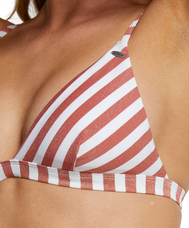 Maria Bikini Top - Rose Gold Stripe