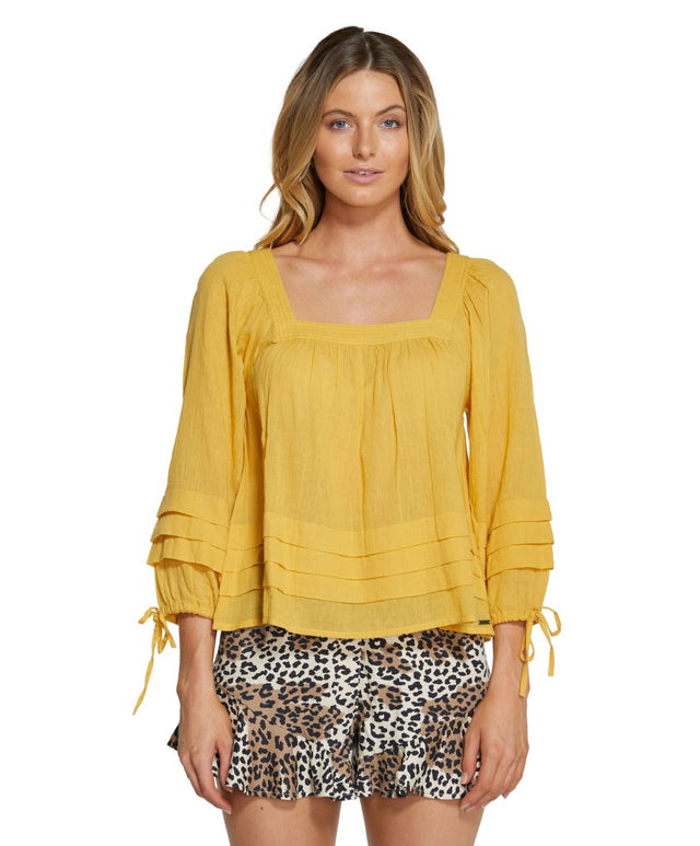 Maris Long Sleeve Top - Goldie