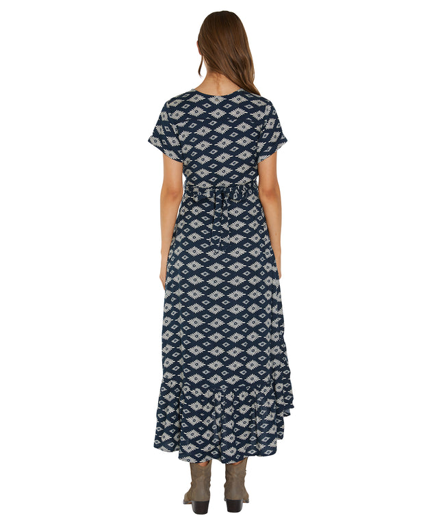 Hawksburn Dress - Navy Geo