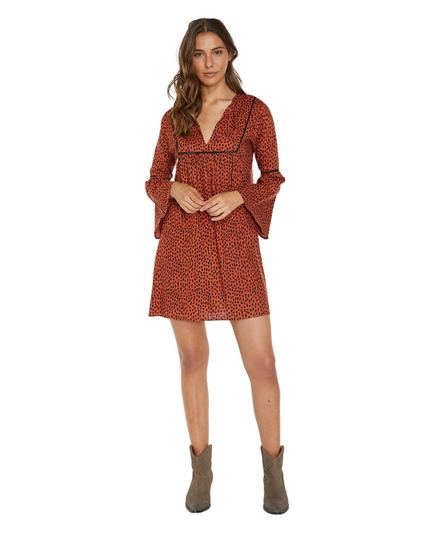 Juniper Mini Dress - Rust Spot