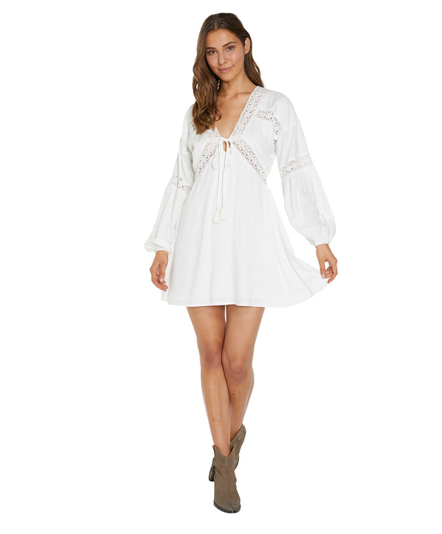 Kimoura Mini Dress - Winter White
