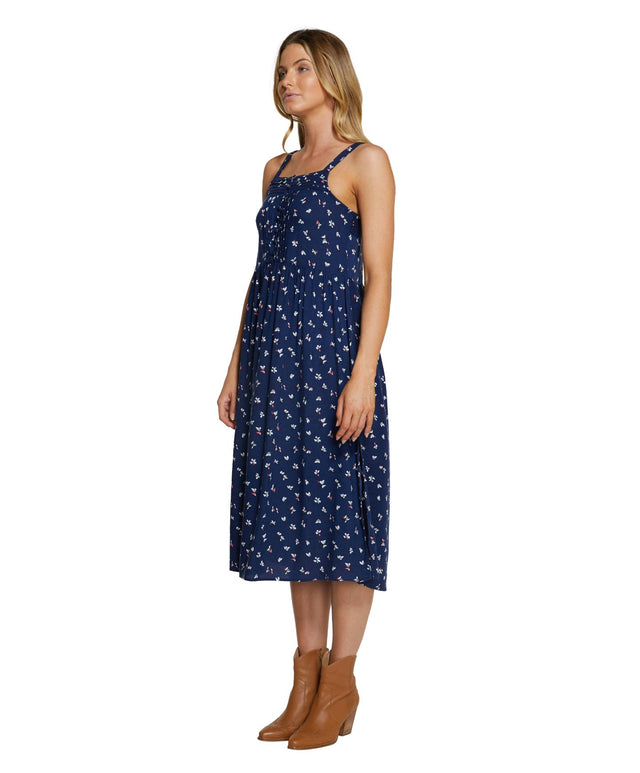 Northland Midi Dress - Navy Ditsy