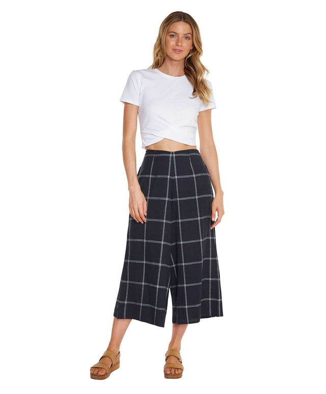 Moss Pant - Navy Plaid