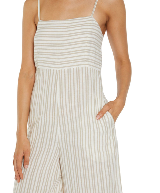 Fleetwood Jumpsuit - Taupe Stripe