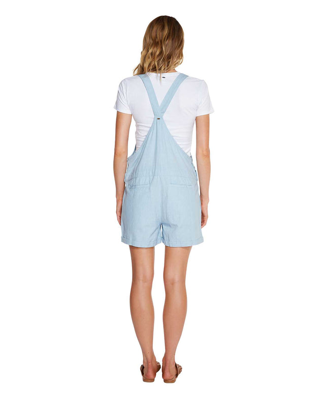 Roller Playsuit - Washed Denim