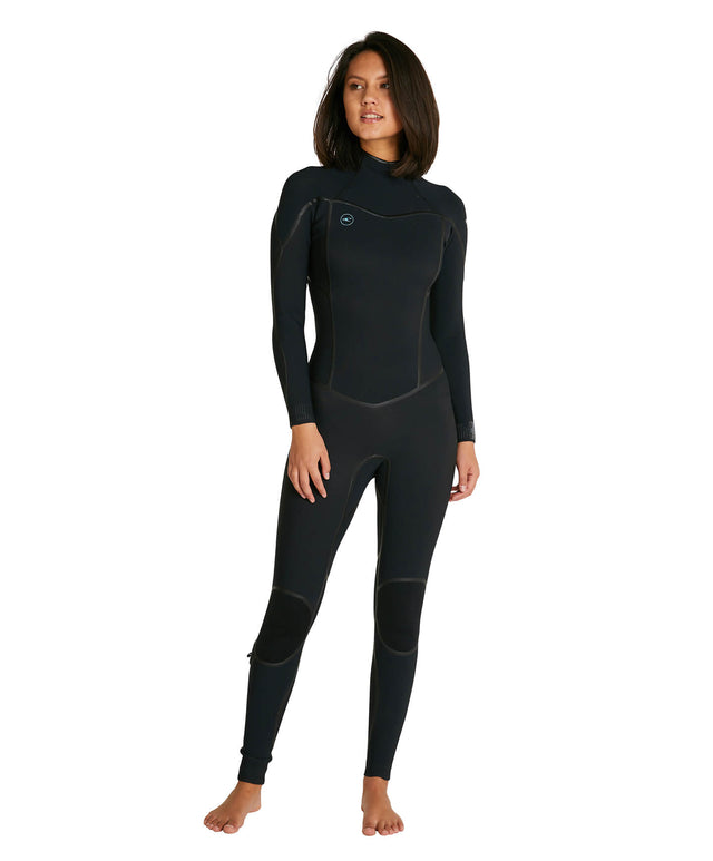 Womens Psycho One 3/2mm Steamer Back Zip Wetsuit - Black
