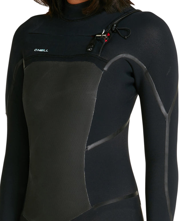 Womens Psycho Tech 4/3mm Steamer Chest Zip Wetsuit - Black