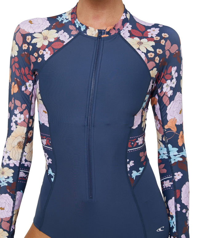 Bahia Lycra Long Sleeve Surfsuit - Navy Poppy