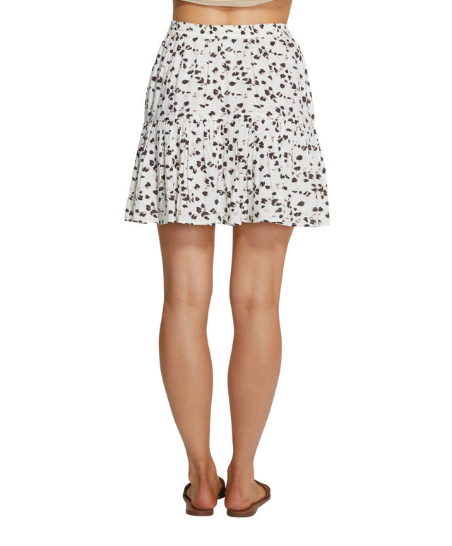 Sandollar Mini Skirt - Leopard Border