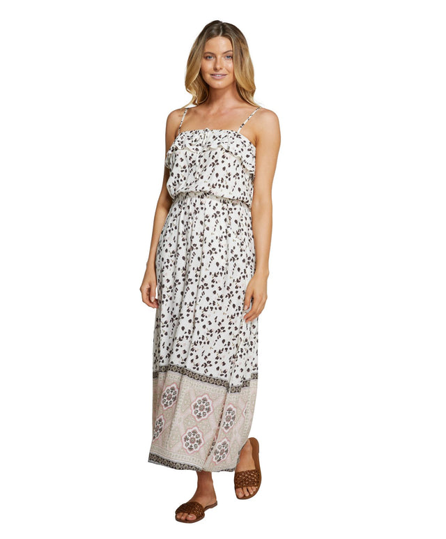Seabridge Maxi Dress - Leopard Border