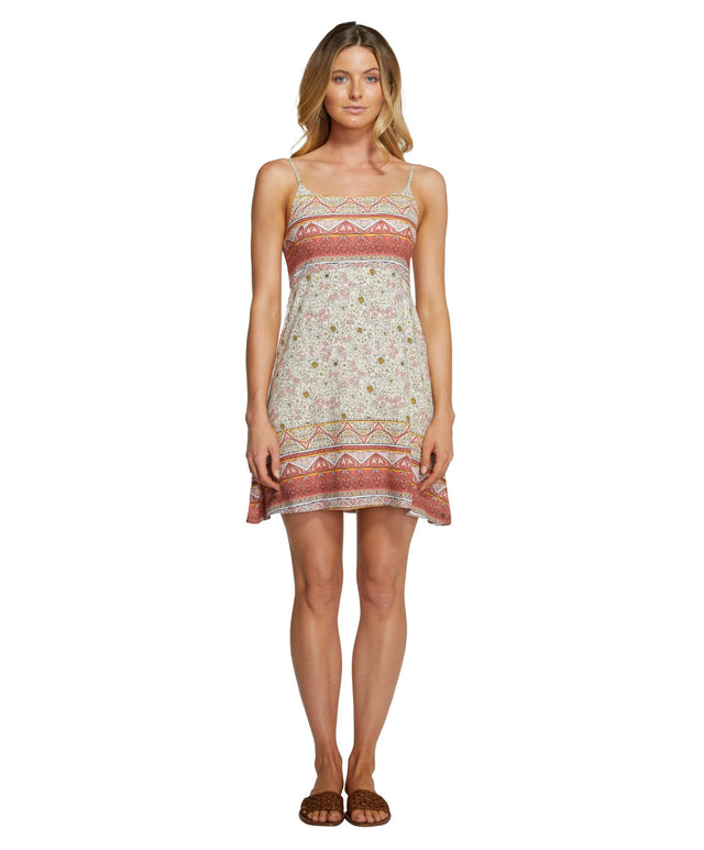 Sealane Mini Dress - Peach Floral