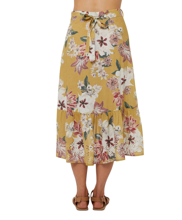 Morgan Midi Skirt - Golden Lily