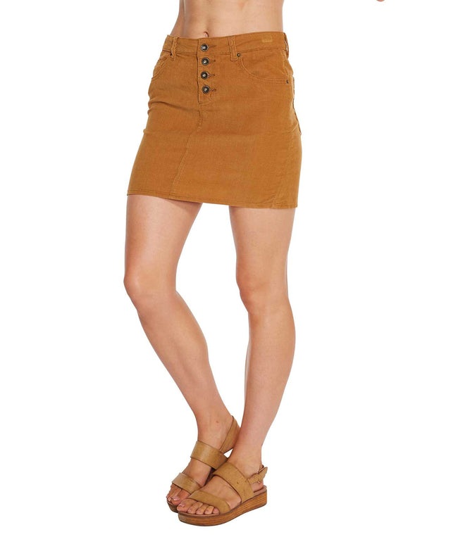 Parker Mini Skirt - Caramel